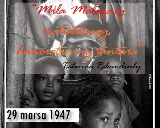 Malagasy Mahatsangy, Ndao hanoratra ny Tantara